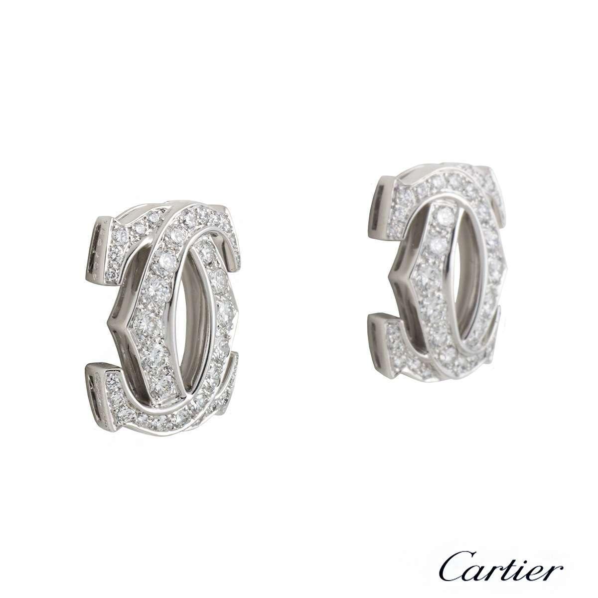 C de Cartier Diamond White Gold Earrings N8020200